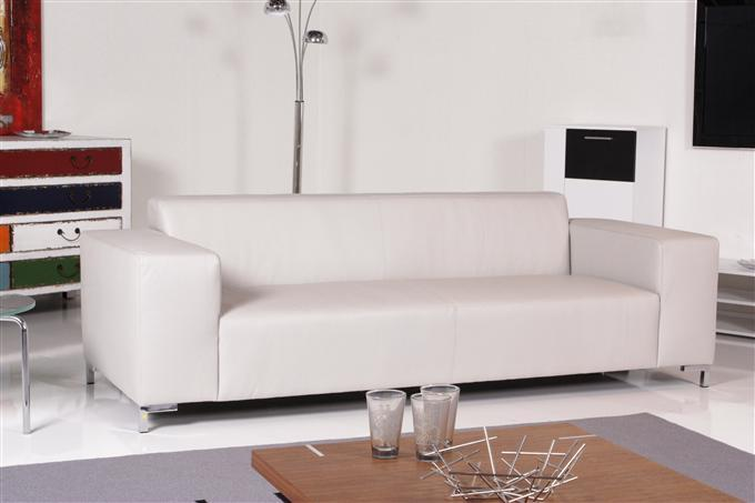 tommy machalke vamos 3er sofa leder cervo greige ebay. Black Bedroom Furniture Sets. Home Design Ideas