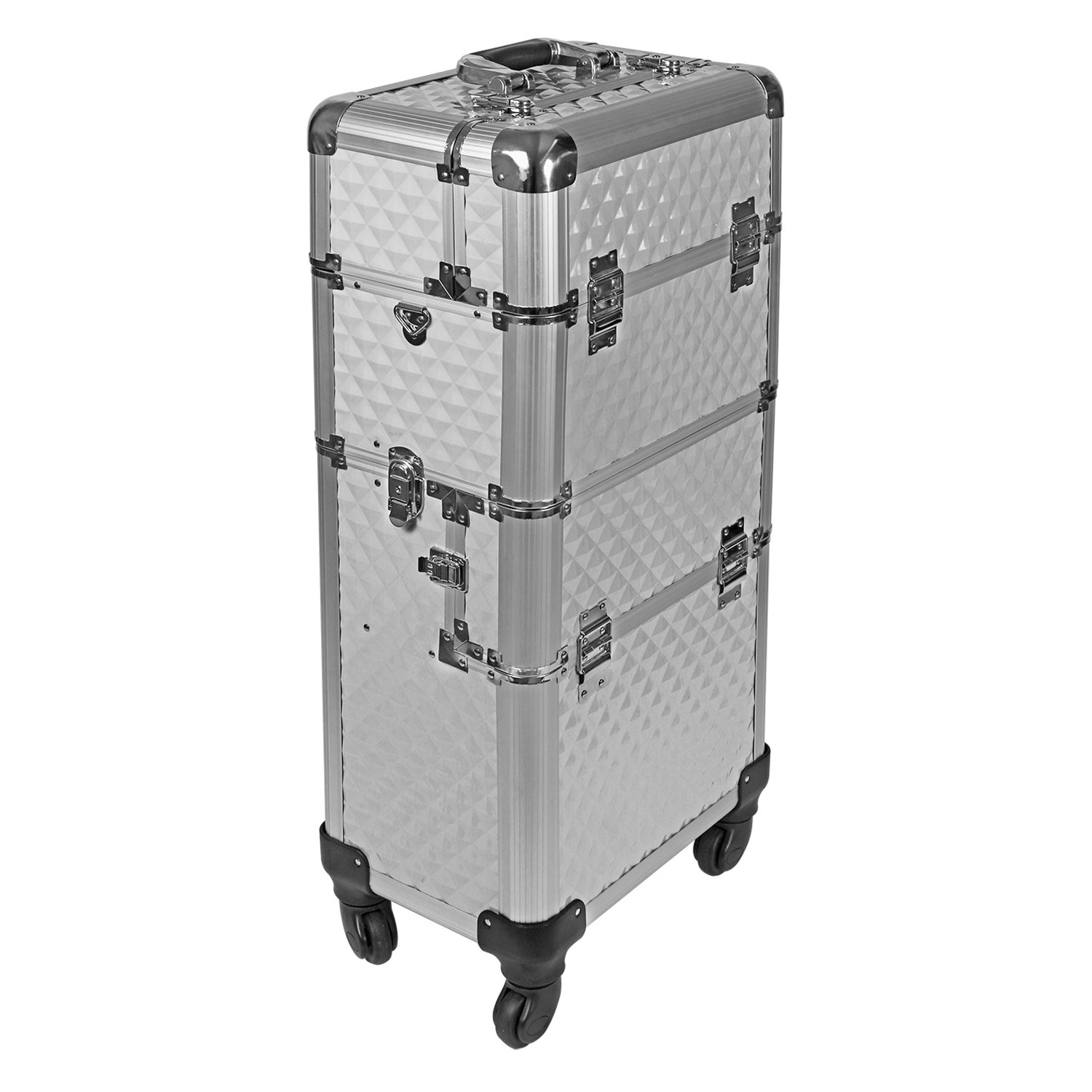 pilotenkoffer silber trolley beauty case alu 4 werkzeugtrolley deckel. Black Bedroom Furniture Sets. Home Design Ideas