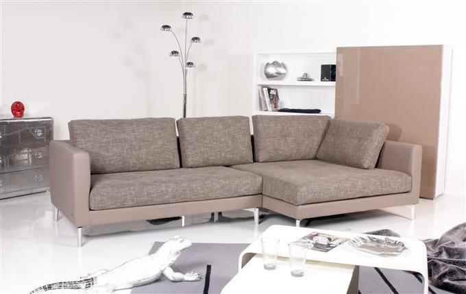 rolf benz ecksofa 609 recamiere rechts stoff beigebraun ebay. Black Bedroom Furniture Sets. Home Design Ideas