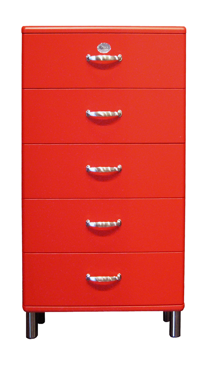 tenzo kommode malibu 5215 mit 5 schubladen rot ebay. Black Bedroom Furniture Sets. Home Design Ideas