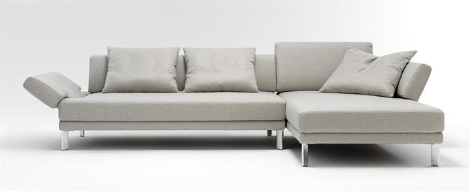 rolf benz sofa 344 sento ecksofa stoff hellgrau recamiere rechts ebay. Black Bedroom Furniture Sets. Home Design Ideas