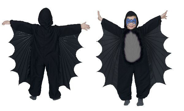 fledermaus kost m kinder halloween fasching tierkost m gr 104 ebay. Black Bedroom Furniture Sets. Home Design Ideas