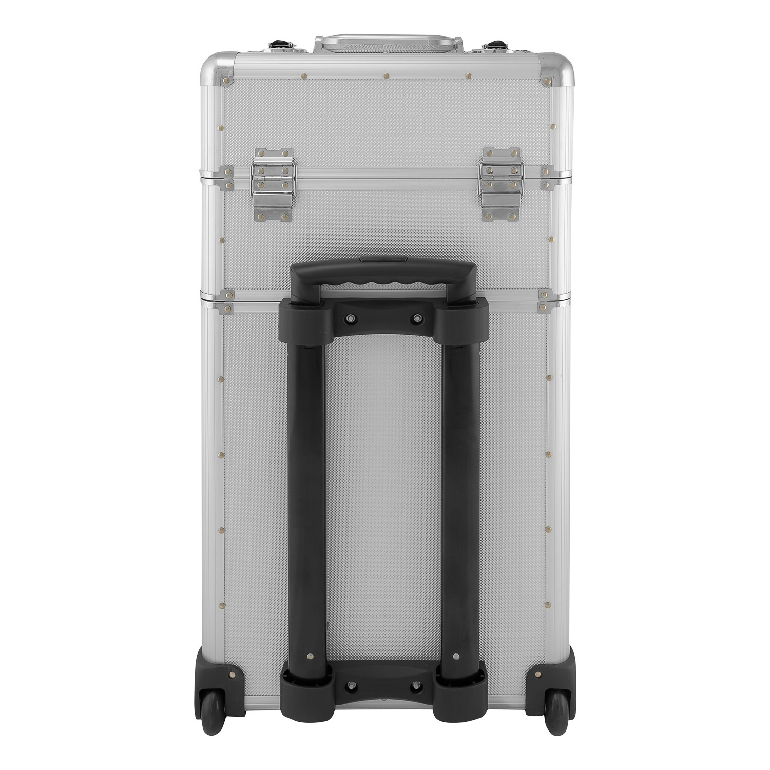 anndora aluminium koffer 2 rad trolley 60 l pilotenkoffer beauty case silber ebay. Black Bedroom Furniture Sets. Home Design Ideas