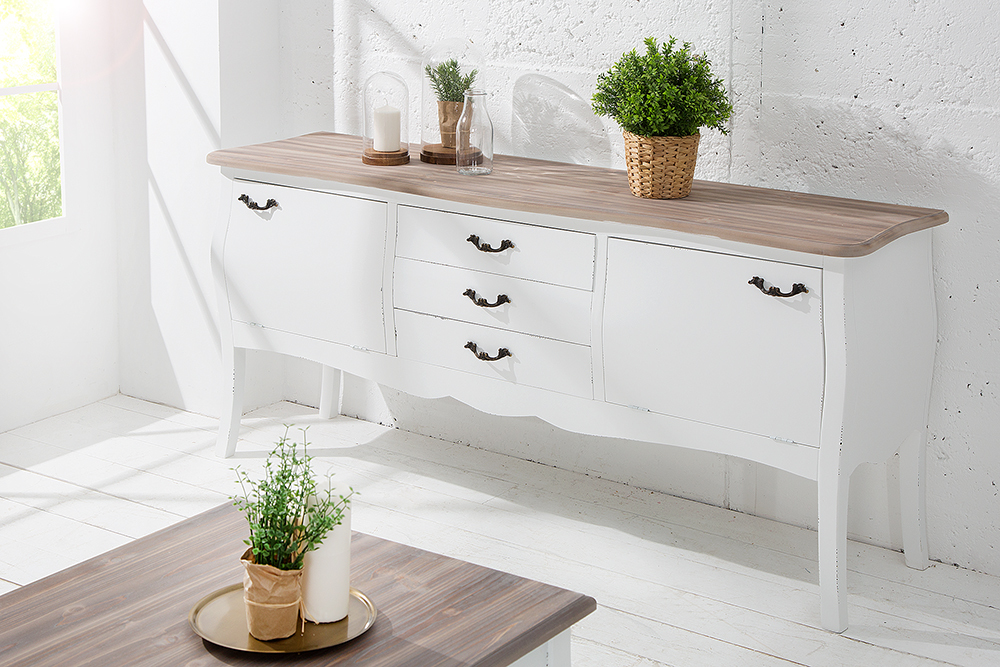 Shabby chic sideboard maison belle affaire 155 cm pinie for Credenza shabby ebay