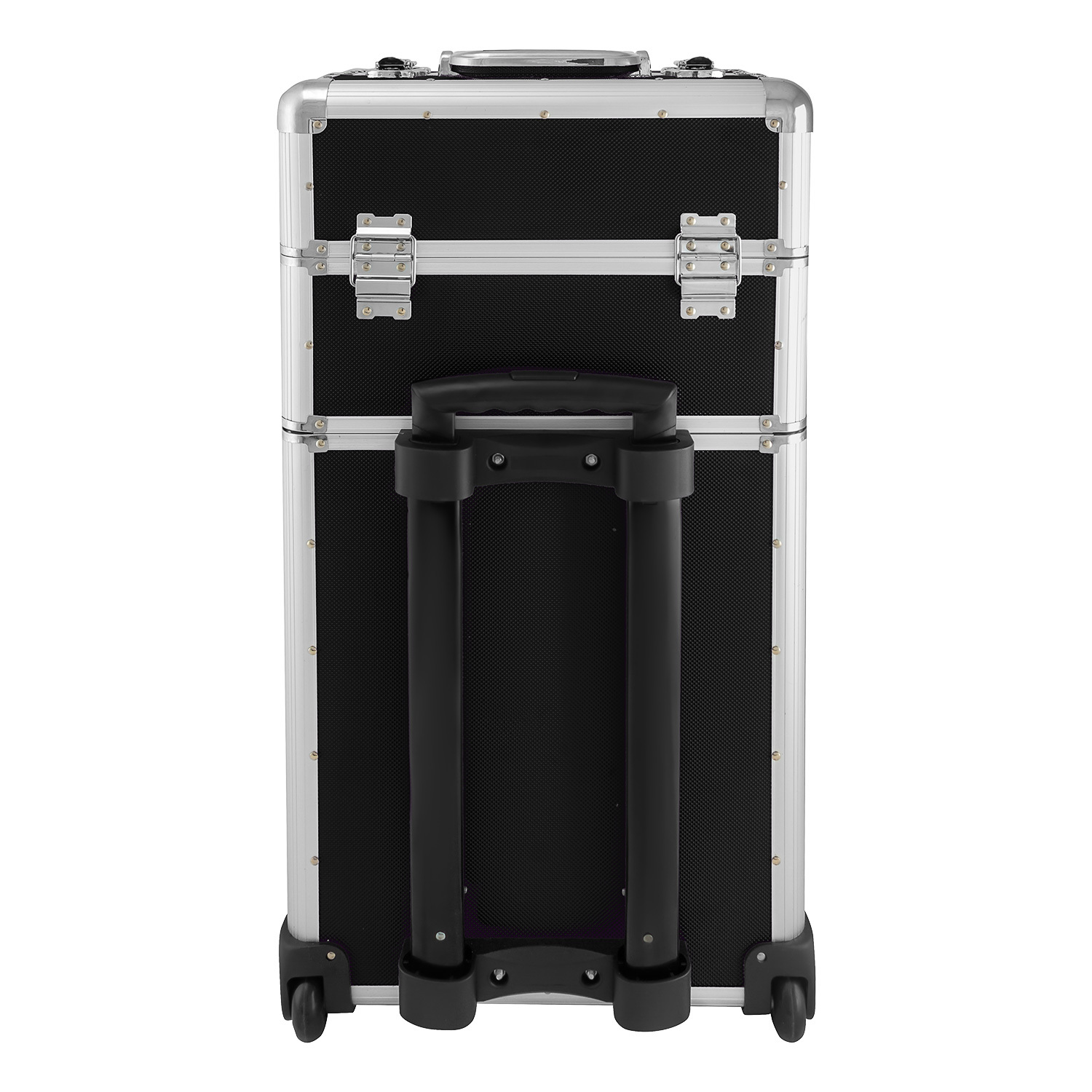 anndora aluminium koffer 2 rad trolley 60 l pilotenkoffer beauty case schwarz ebay. Black Bedroom Furniture Sets. Home Design Ideas