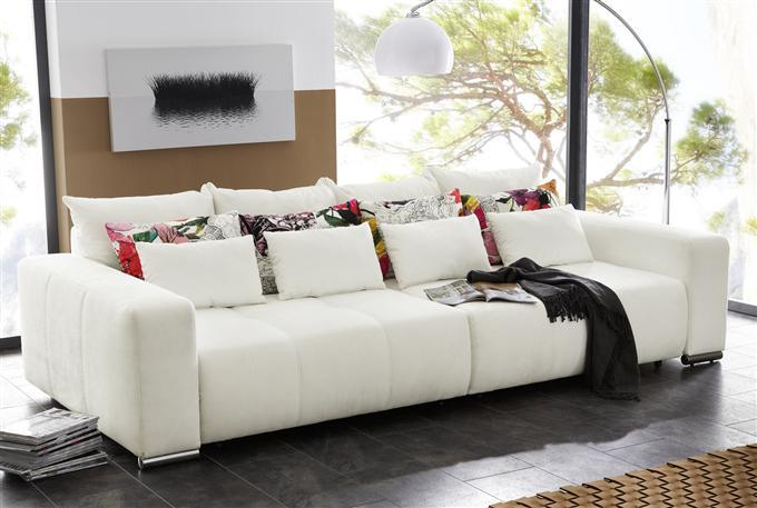 kasper wohndesign big sofa cosmos alcatop wei ebay. Black Bedroom Furniture Sets. Home Design Ideas