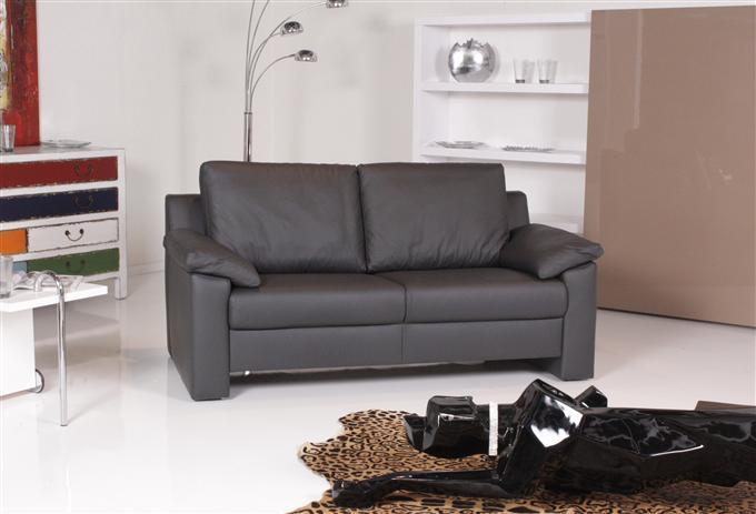 ewald schillig classics 2er sofa leder schwarz ebay. Black Bedroom Furniture Sets. Home Design Ideas