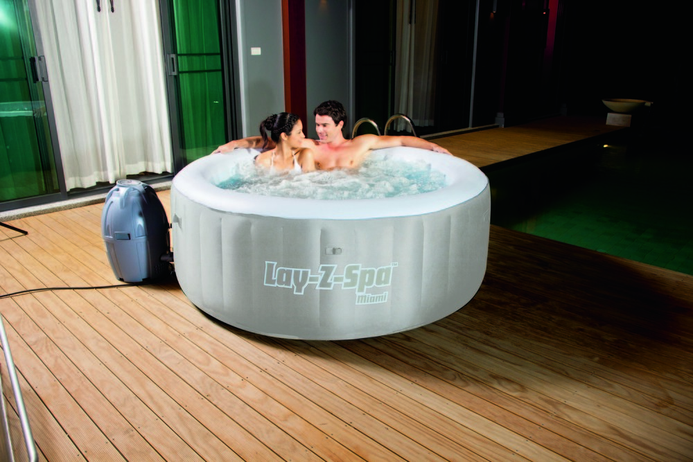 bestway whirlpool 12700 lay z spa miami ebay. Black Bedroom Furniture Sets. Home Design Ideas