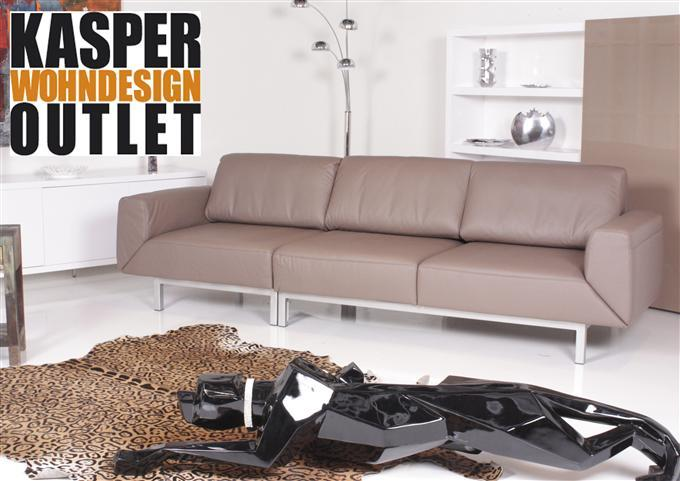mondo by ewald schillig 3er sofa leder beige ebay. Black Bedroom Furniture Sets. Home Design Ideas