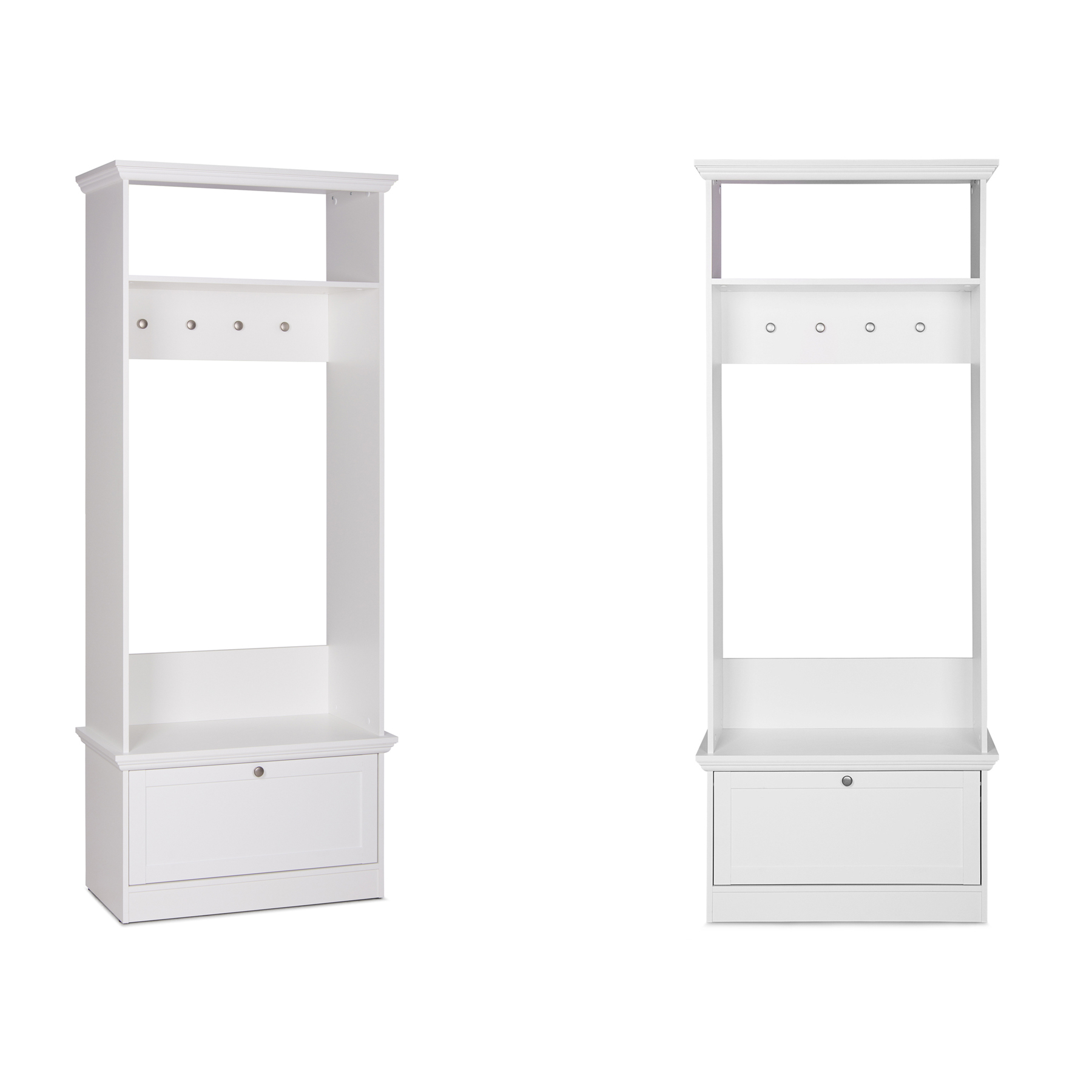 klassische garderobe provence wei 80cm im landhausstil. Black Bedroom Furniture Sets. Home Design Ideas