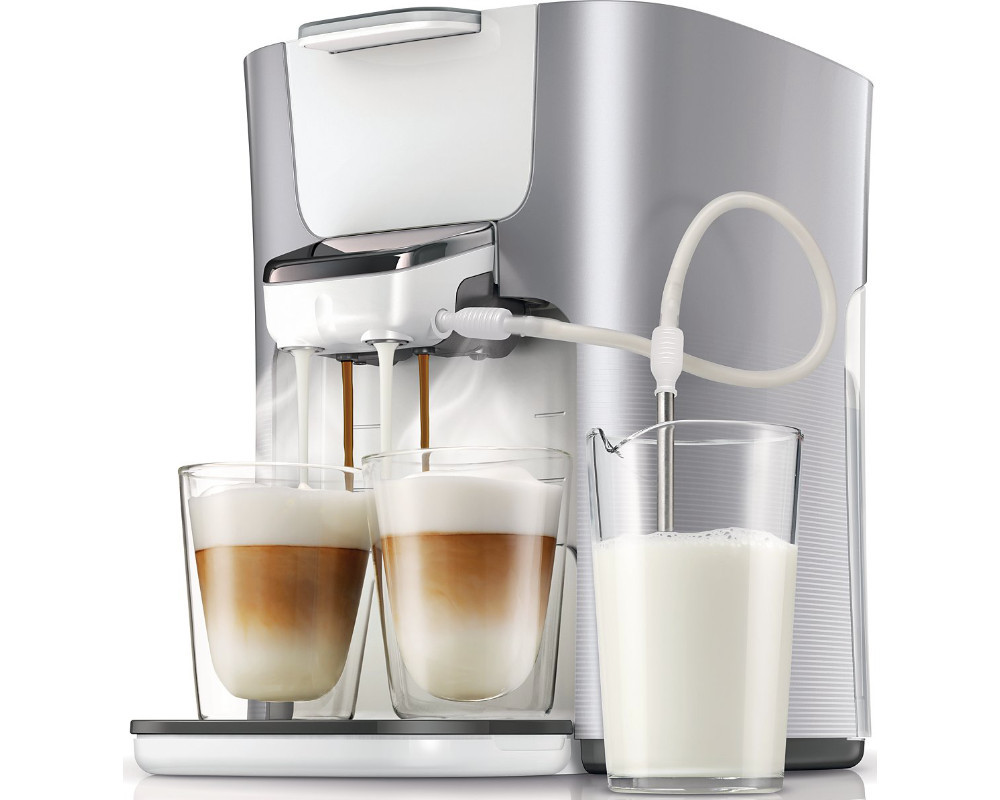 philips senseo latte duo hd7857 20 padmaschine 1 liter silber neu ebay. Black Bedroom Furniture Sets. Home Design Ideas