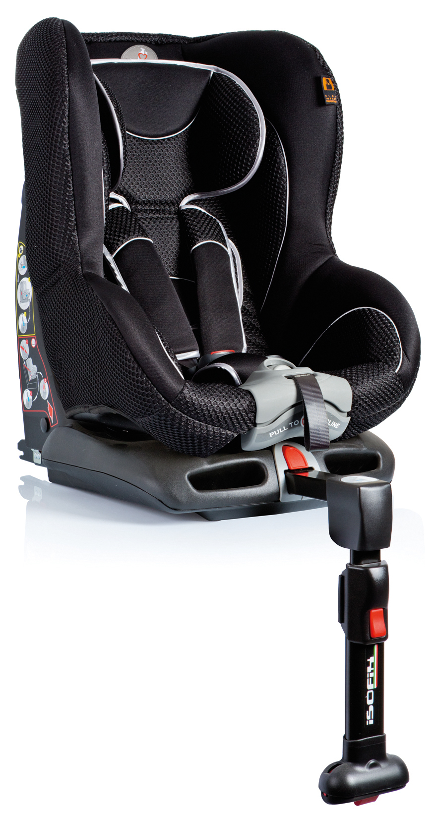 kindersitz autokindersitz kinderautositz mit isofix tiziano schwarz 9 18 kg. Black Bedroom Furniture Sets. Home Design Ideas