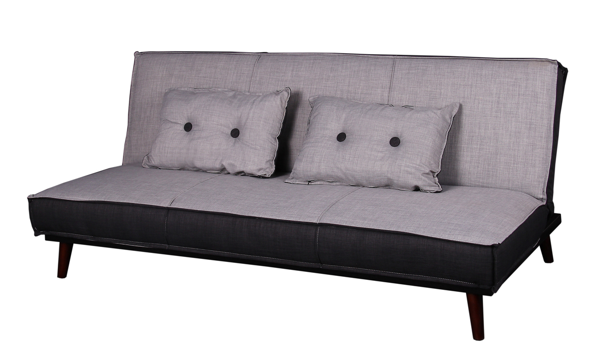 schlafsofa relax laslo stoff hellgrau dunkelgrau landau. Black Bedroom Furniture Sets. Home Design Ideas