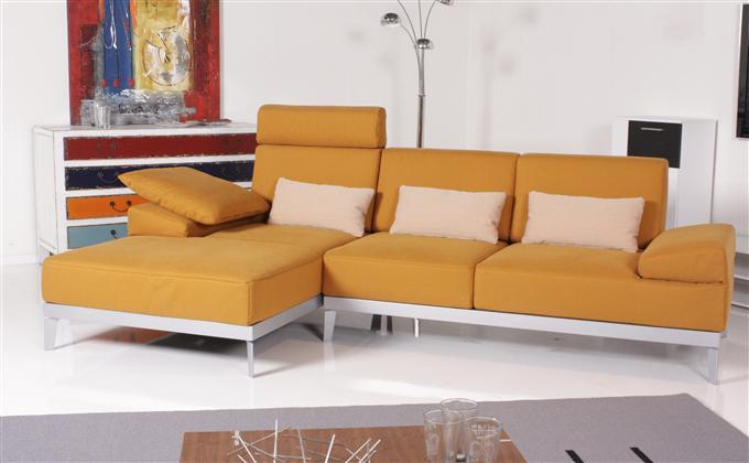 rolf benz sofa 382 molto ecksofa stoff orange recamiere links ebay. Black Bedroom Furniture Sets. Home Design Ideas