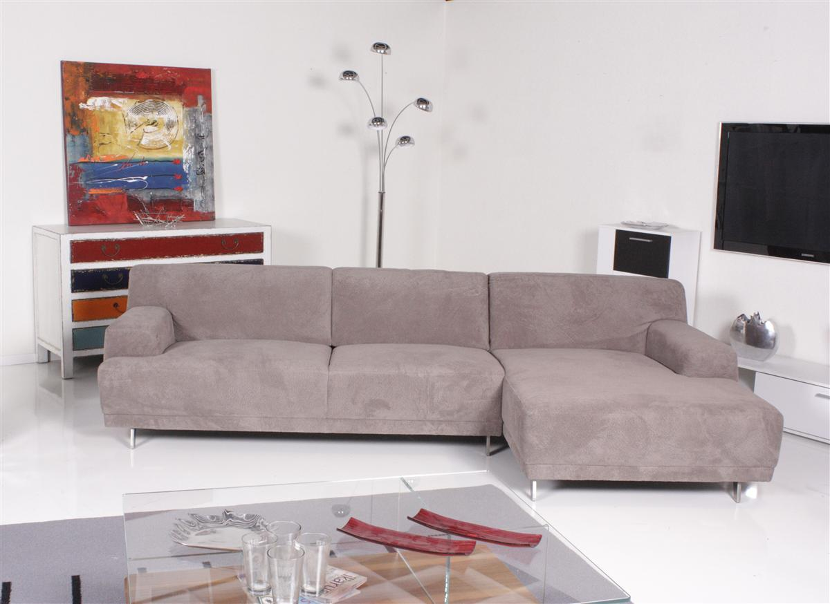 ewald schillig sofa louvre ecksofa stoff beigegrau recamiere rechts ebay. Black Bedroom Furniture Sets. Home Design Ideas