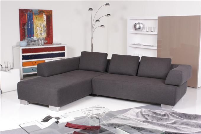 ewald schillig easy ecksofa stoff dunkelgrau ebay. Black Bedroom Furniture Sets. Home Design Ideas