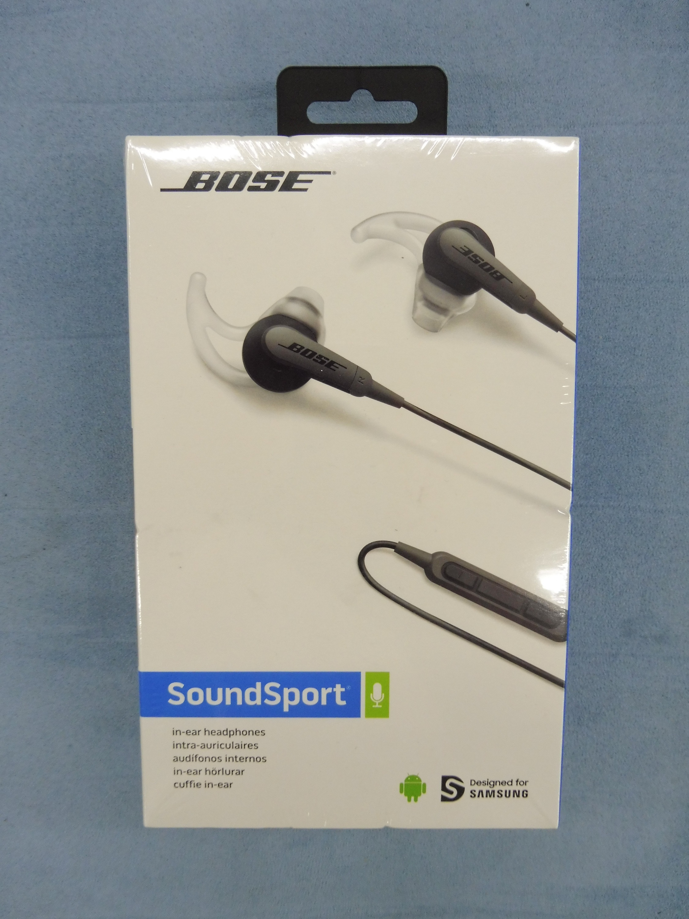 bose soundsport ie hdphn schwarz in ohr kopfh rer ebay. Black Bedroom Furniture Sets. Home Design Ideas