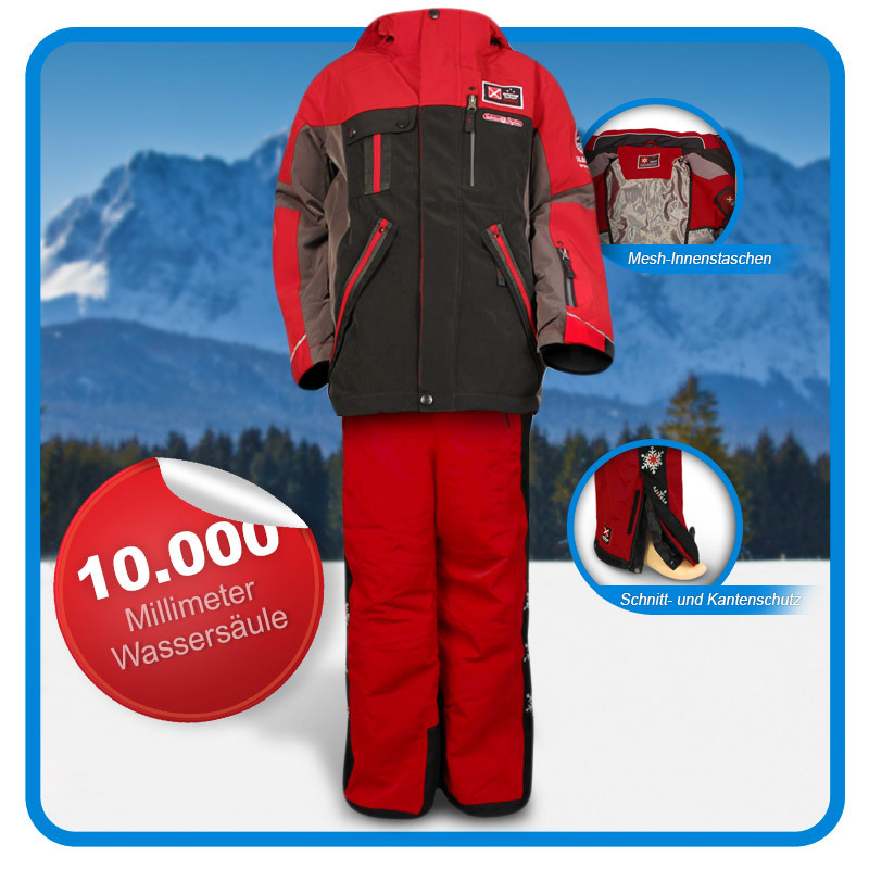 kinderskianzug gr e 176 skijacke skihose killtec bobic jungen rot schwarz ebay. Black Bedroom Furniture Sets. Home Design Ideas