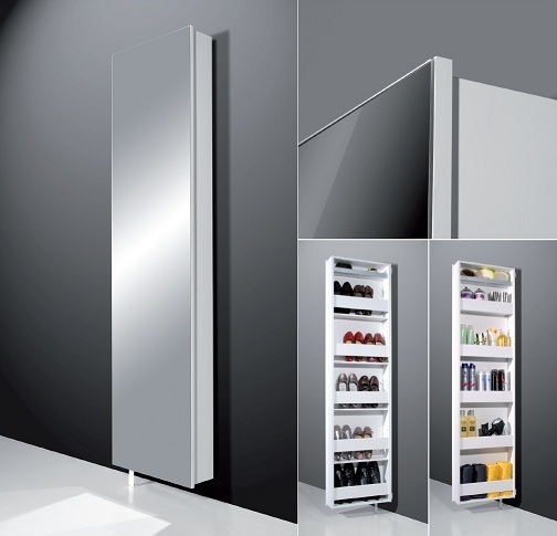 stylisher design dreh schuhschrank cleary 195cm weiss mit spiegel ebay. Black Bedroom Furniture Sets. Home Design Ideas