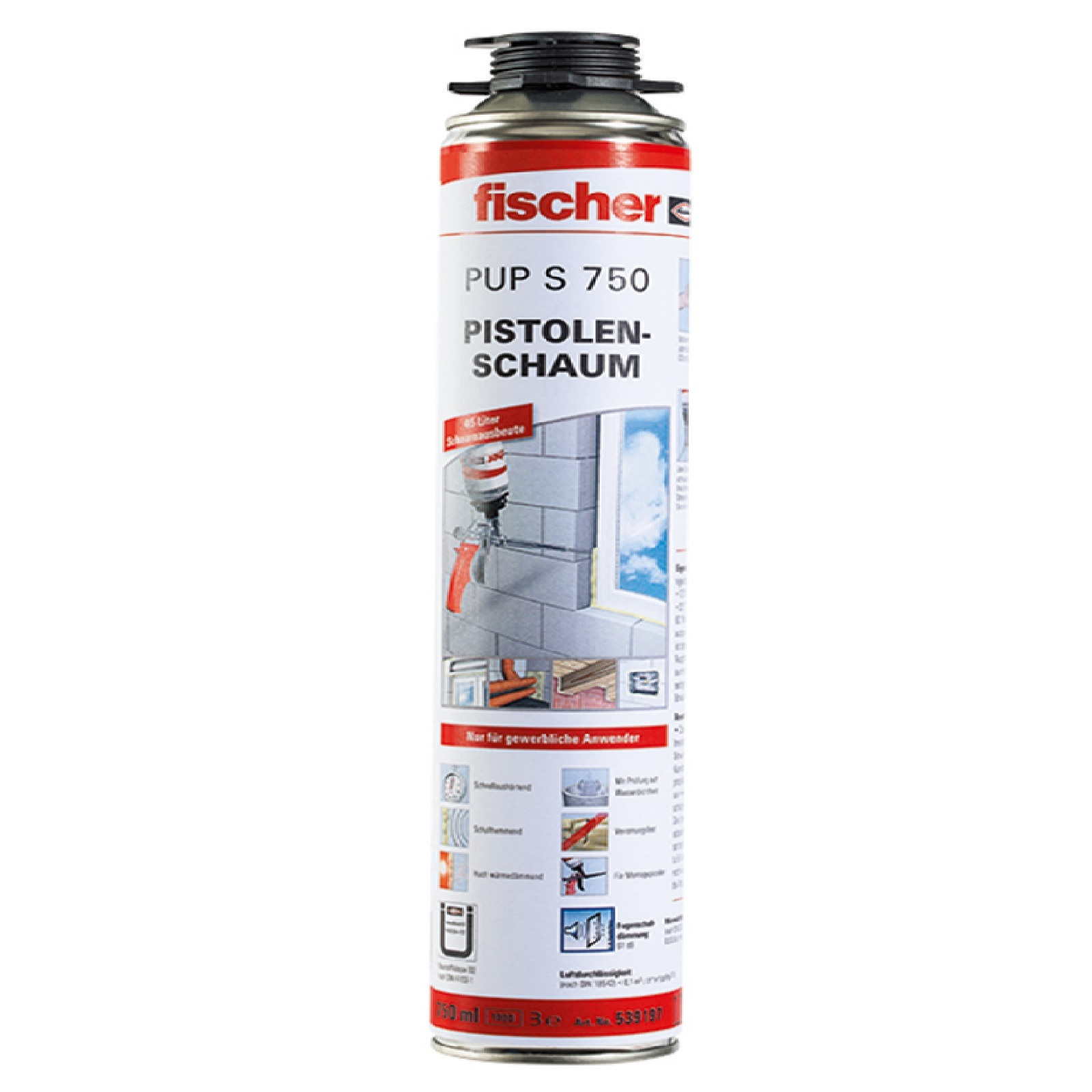 fischer pup s 750 b2 pistolenschaum bauschaum pu schaum f ll d mmschaum 750ml ebay. Black Bedroom Furniture Sets. Home Design Ideas