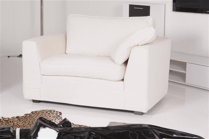 machalke sessel loveseat husse stoff san francisco ecrue ebay. Black Bedroom Furniture Sets. Home Design Ideas