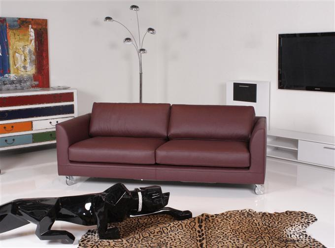 machalke manolo sofa 3 sitzer leder comfort bordeaux ebay. Black Bedroom Furniture Sets. Home Design Ideas