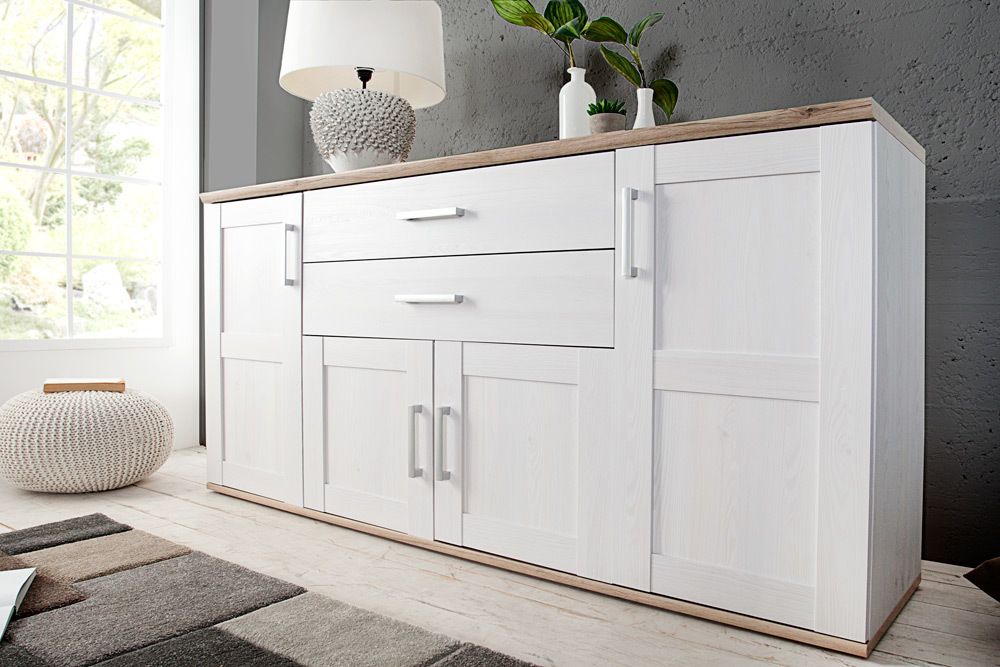 design sideboard notting hill 185cm weiss san remo hell. Black Bedroom Furniture Sets. Home Design Ideas