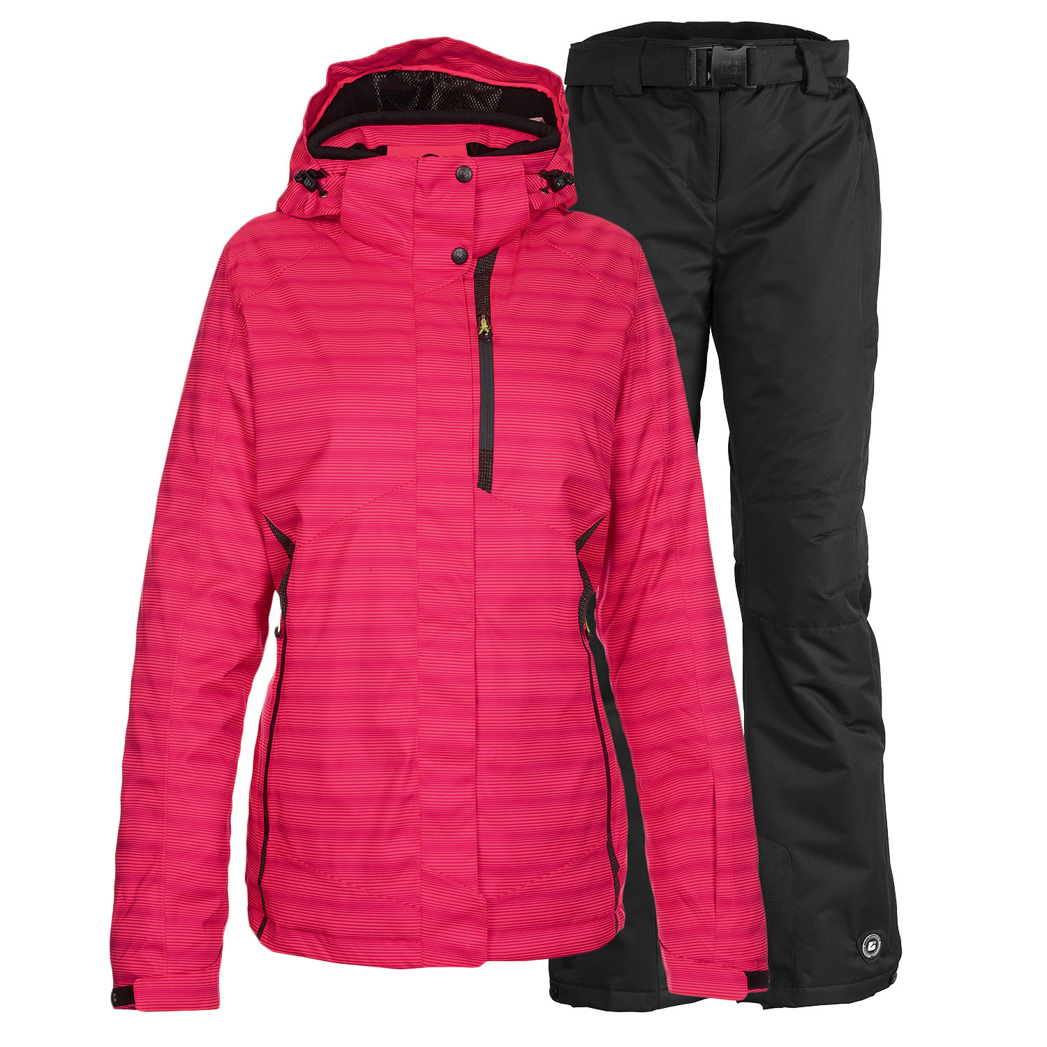 skiset skianzug level 3 damen funktionsjacke pink alpin skihose schwarz gr e ebay. Black Bedroom Furniture Sets. Home Design Ideas