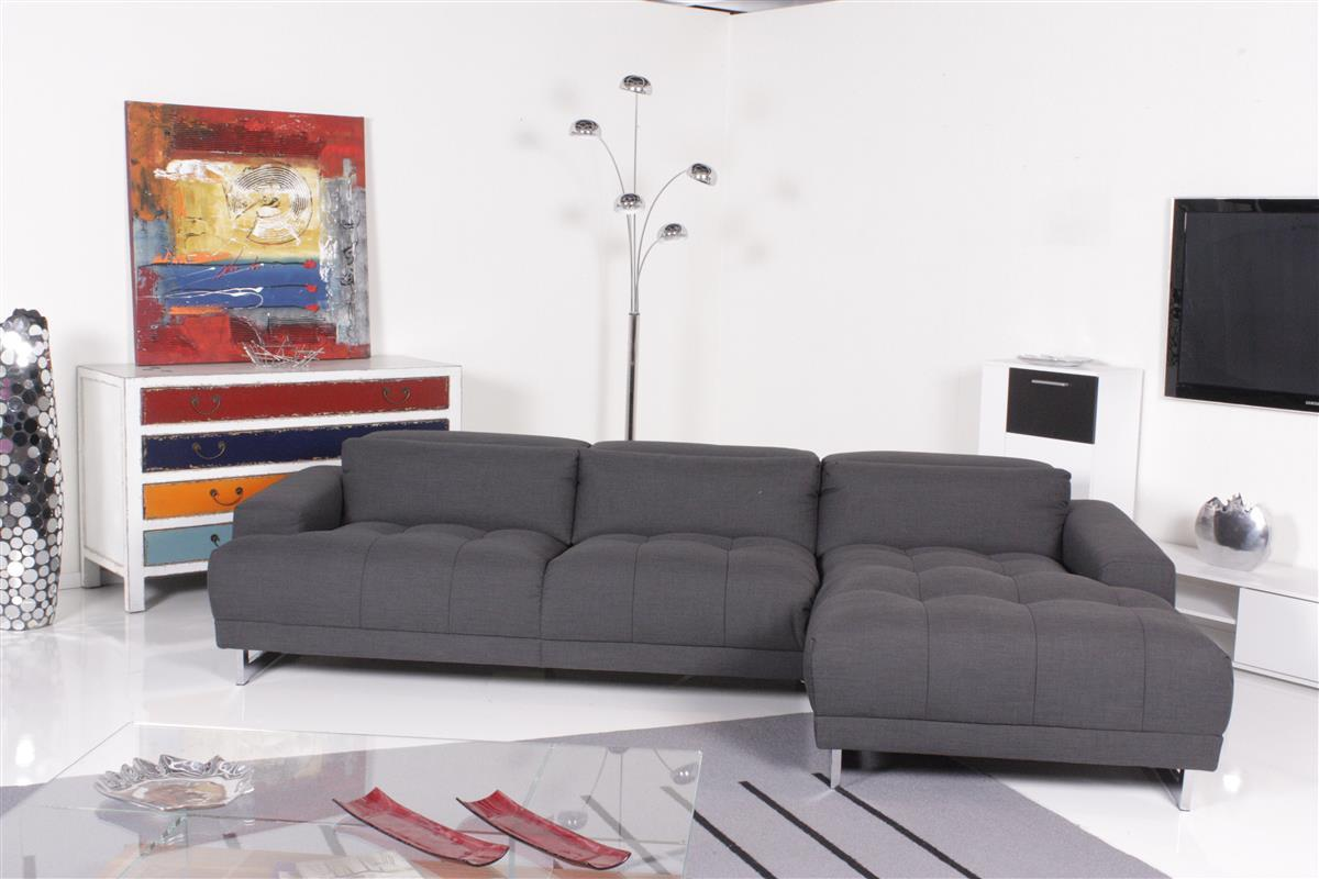 ewald schillig sofa broadway ecksofa stoff grau ebay. Black Bedroom Furniture Sets. Home Design Ideas