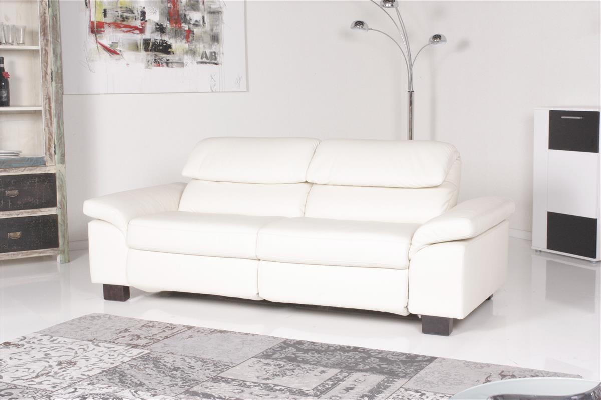 machalke sofa 8150 mit relaxfunktion bezug leder creme ebay. Black Bedroom Furniture Sets. Home Design Ideas