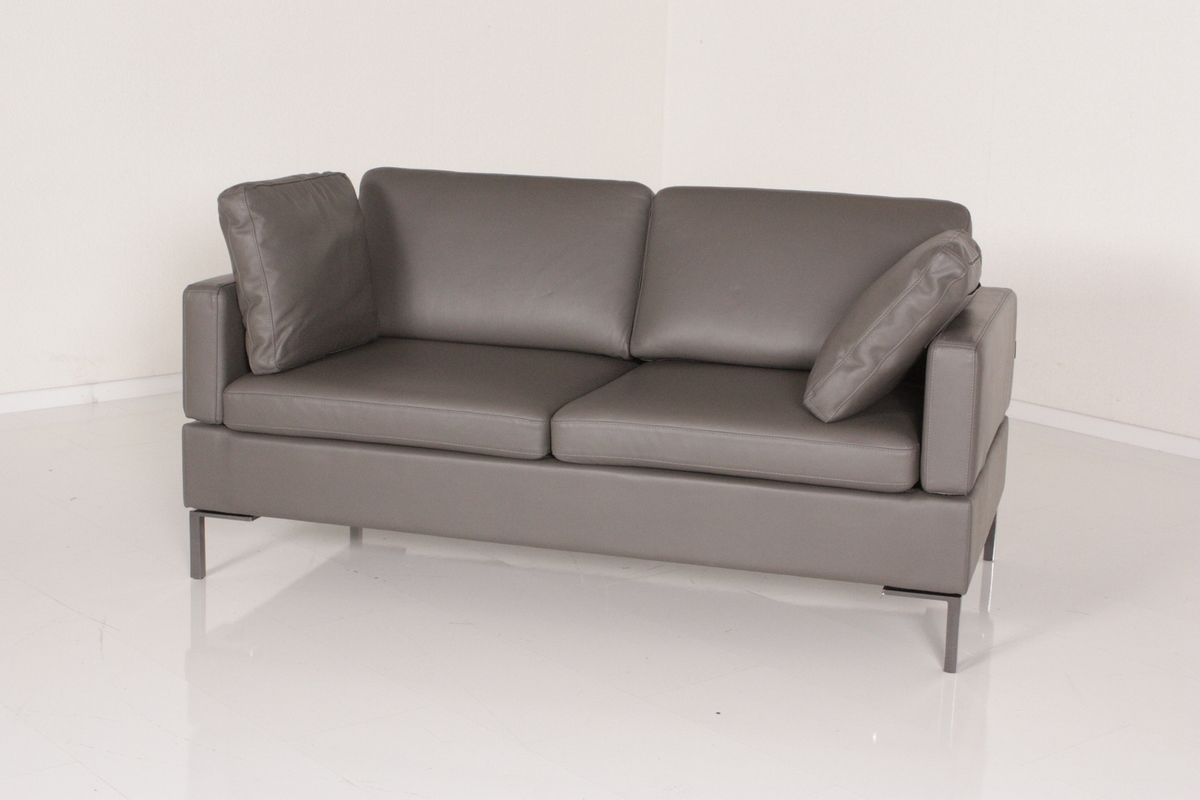 br hl sofa ledersofa alba bezug leder olivia f e chrom ebay. Black Bedroom Furniture Sets. Home Design Ideas