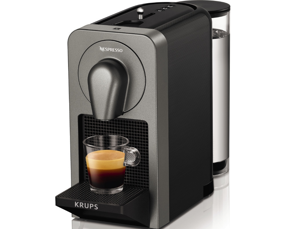 krups xn 410 t nespresso prodigio kapselmaschine titan ebay. Black Bedroom Furniture Sets. Home Design Ideas