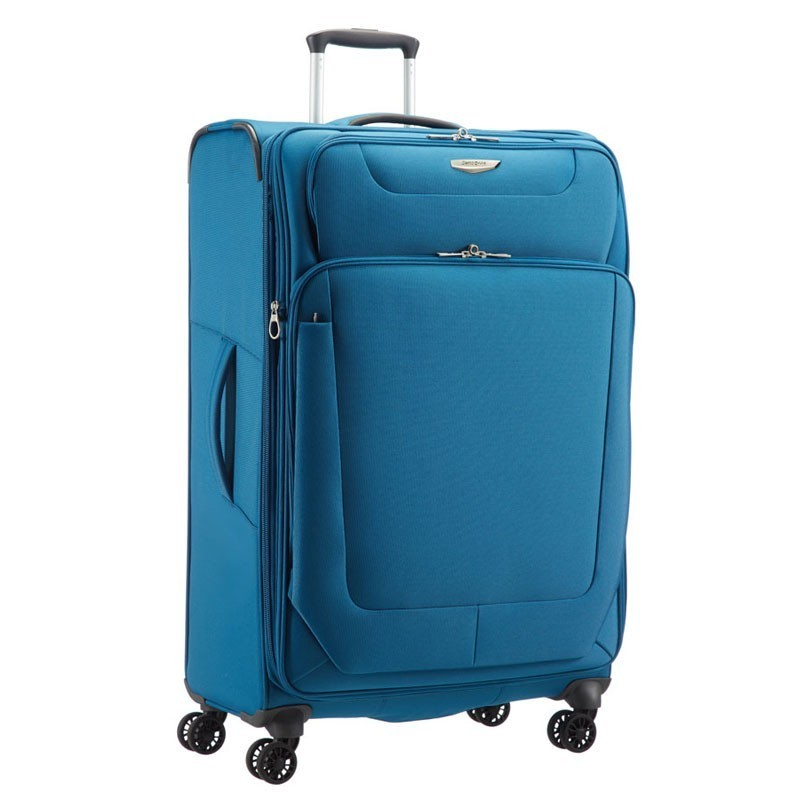 samsonite spark 4 rollen 79 29 exp erweiterbar trolley koffer reise schwarz blau ebay. Black Bedroom Furniture Sets. Home Design Ideas