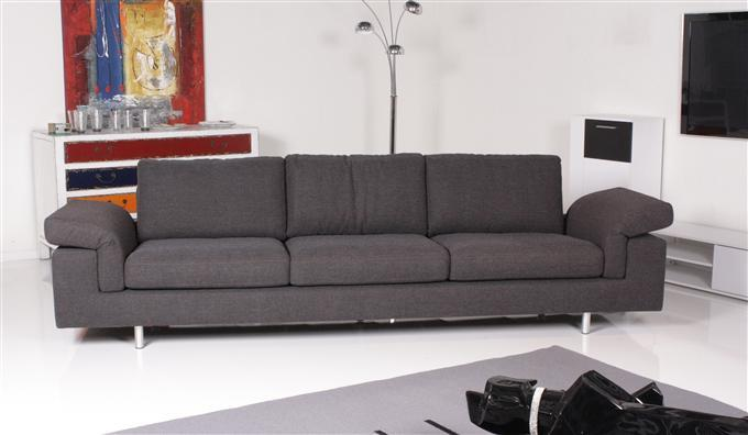 machalke pianto 4er sofa stoff grau ebay. Black Bedroom Furniture Sets. Home Design Ideas