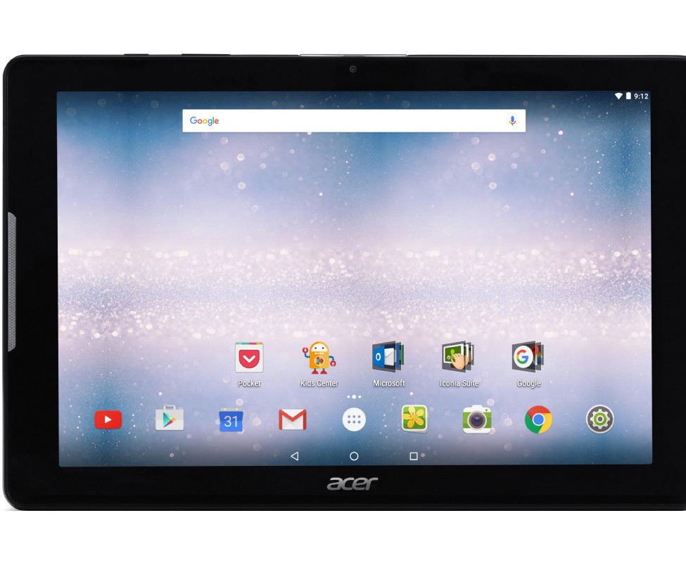 acer iconia one 10 b3 a30 tablet 10 1 zoll 16gb schwarz ebay. Black Bedroom Furniture Sets. Home Design Ideas