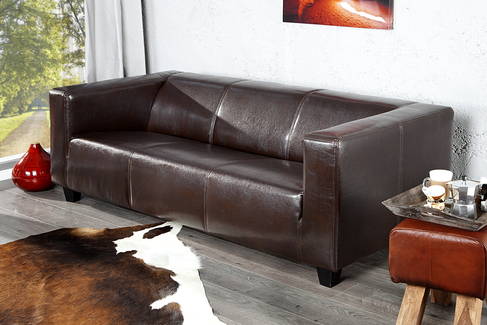 design sofa lifestyle 3 sitzer in coffee couch wohnzimmer sofas polstersofa. Black Bedroom Furniture Sets. Home Design Ideas