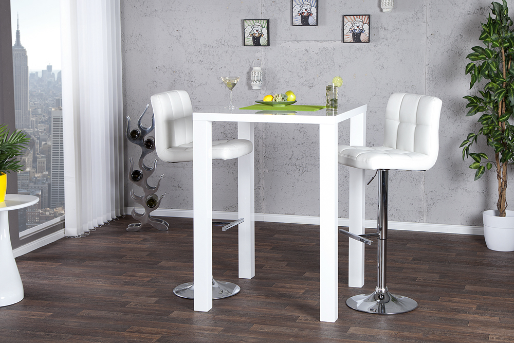 design bartisch bistrotisch lucente hochglanz weiss bistrotisch tische k che ebay. Black Bedroom Furniture Sets. Home Design Ideas