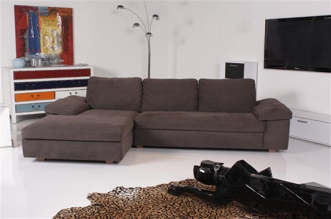 machalke concept ecksofa stoff braun ebay. Black Bedroom Furniture Sets. Home Design Ideas