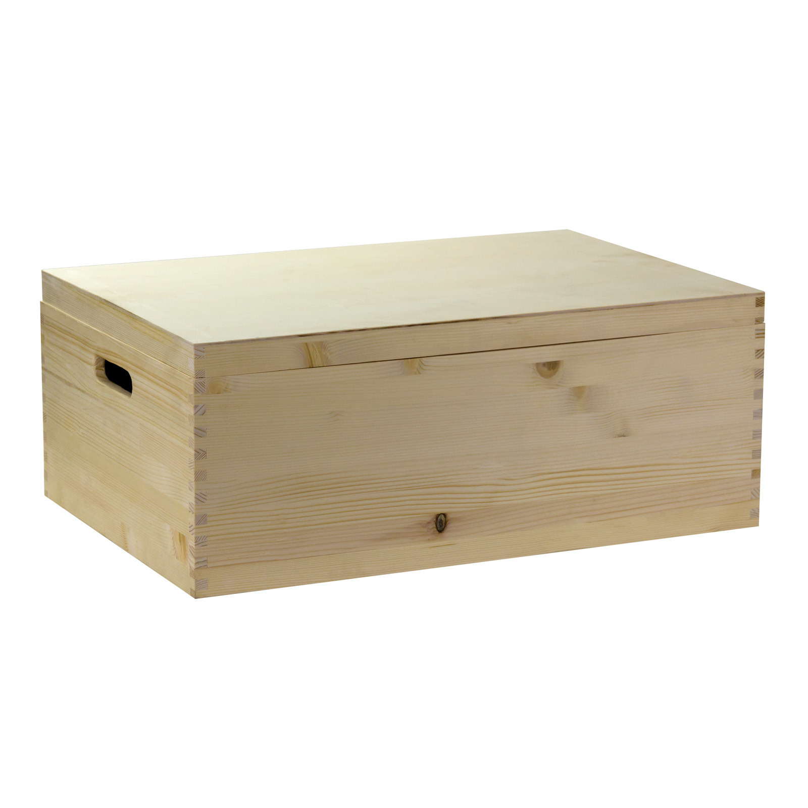 universal holz kiste box spielzeugkiste holzkiste holzbox mit deckel 60x40x24 cm ebay. Black Bedroom Furniture Sets. Home Design Ideas