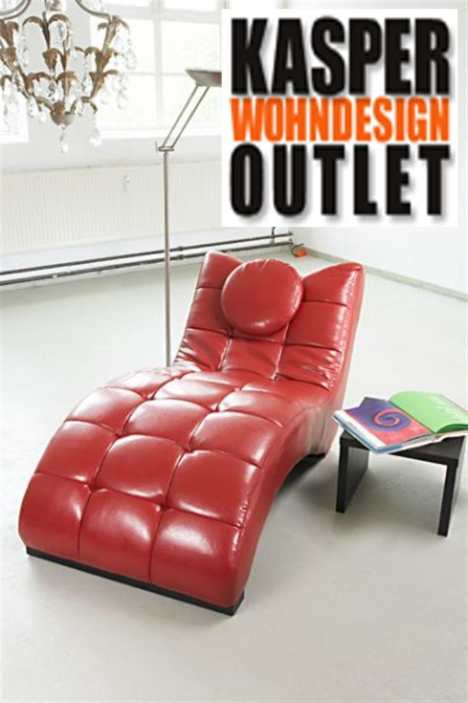 lounge liege relaxliege loft ledertex rot ebay. Black Bedroom Furniture Sets. Home Design Ideas