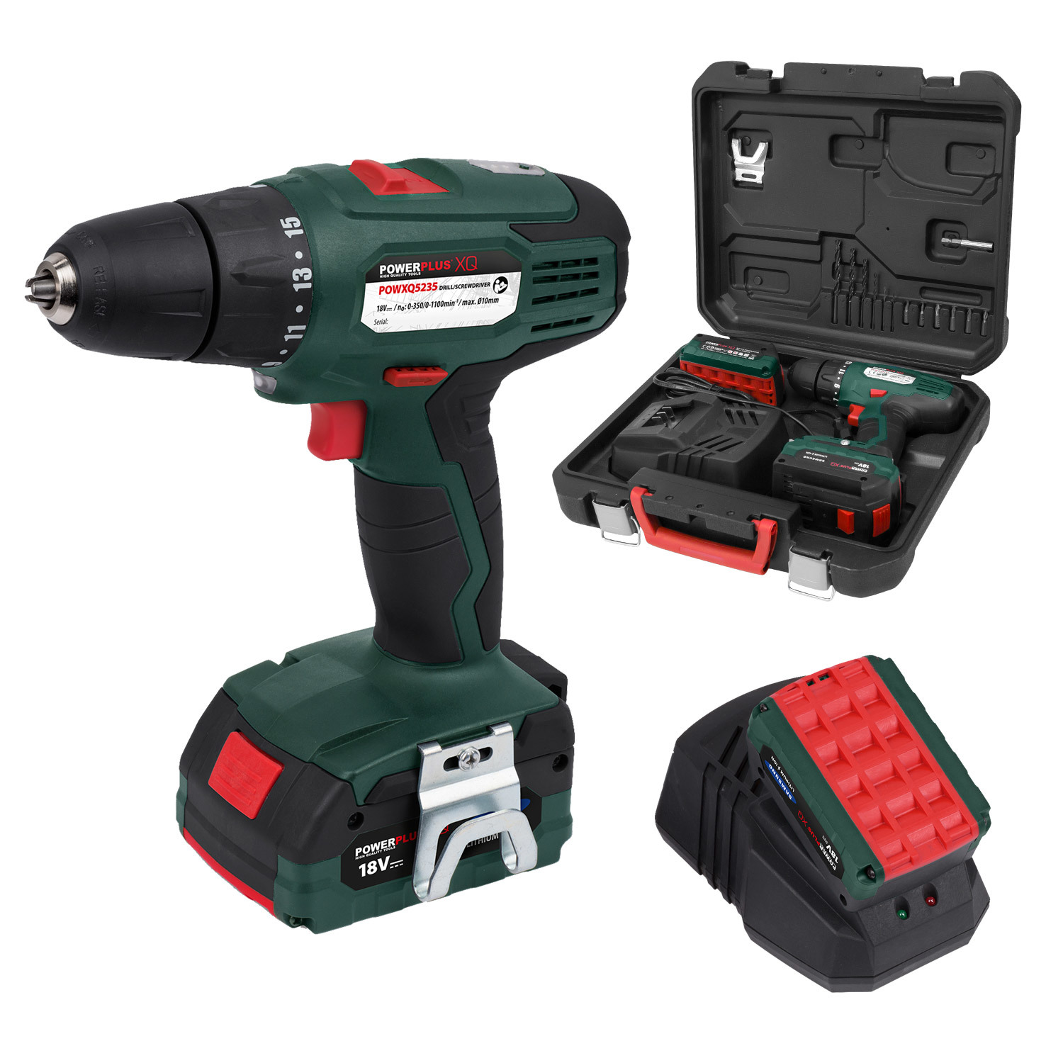 powerplus cordless screwdriver 2x lithium cordless drill. Black Bedroom Furniture Sets. Home Design Ideas