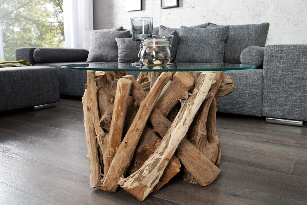 Design couchtisch nature lounge teakholz mit runder for Design couchtisch nature lounge teakholz