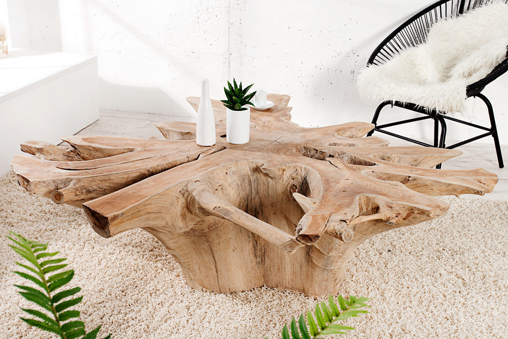 couchtisch root teak wurzel holztisch beistelltisch tisch massivholz wohnzimmer ebay. Black Bedroom Furniture Sets. Home Design Ideas