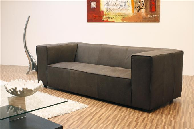 tommy machalke 3er sofa aramon leder dunkelbraun ebay. Black Bedroom Furniture Sets. Home Design Ideas