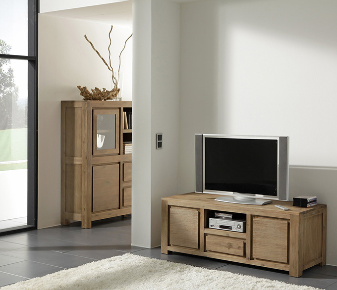 wolf m bel nevada tv kommode akazie ebay. Black Bedroom Furniture Sets. Home Design Ideas