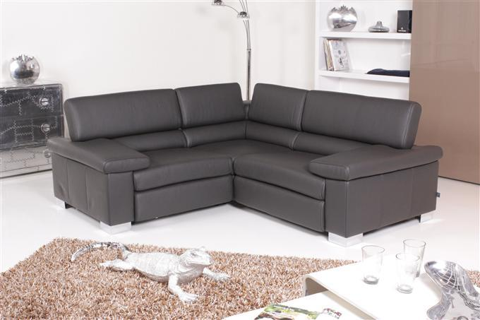 ewald schillig designer leder sofa liege garnitur grau. Black Bedroom Furniture Sets. Home Design Ideas