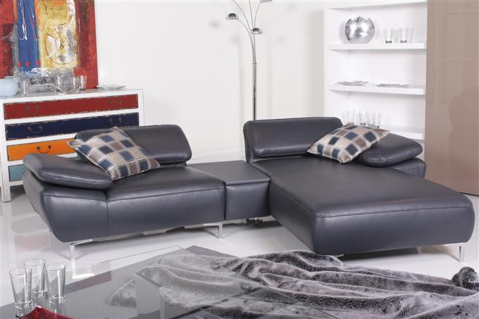 willi schillig modell 17250 clyde ecksofa leder dunkelblau ebay. Black Bedroom Furniture Sets. Home Design Ideas