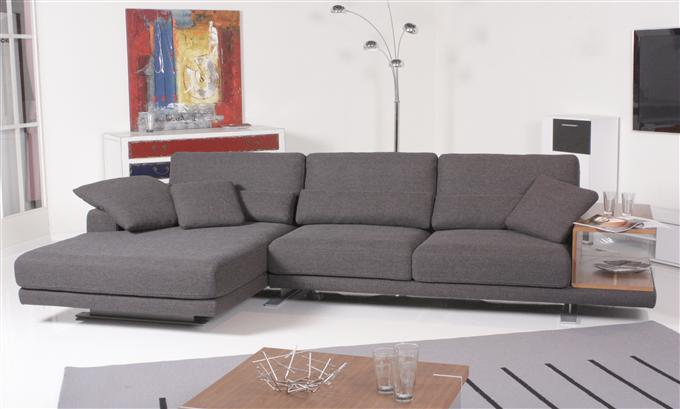 rolf benz sofa 556 vero ecksofa stoff schwarzbraun recamiere links ebay. Black Bedroom Furniture Sets. Home Design Ideas