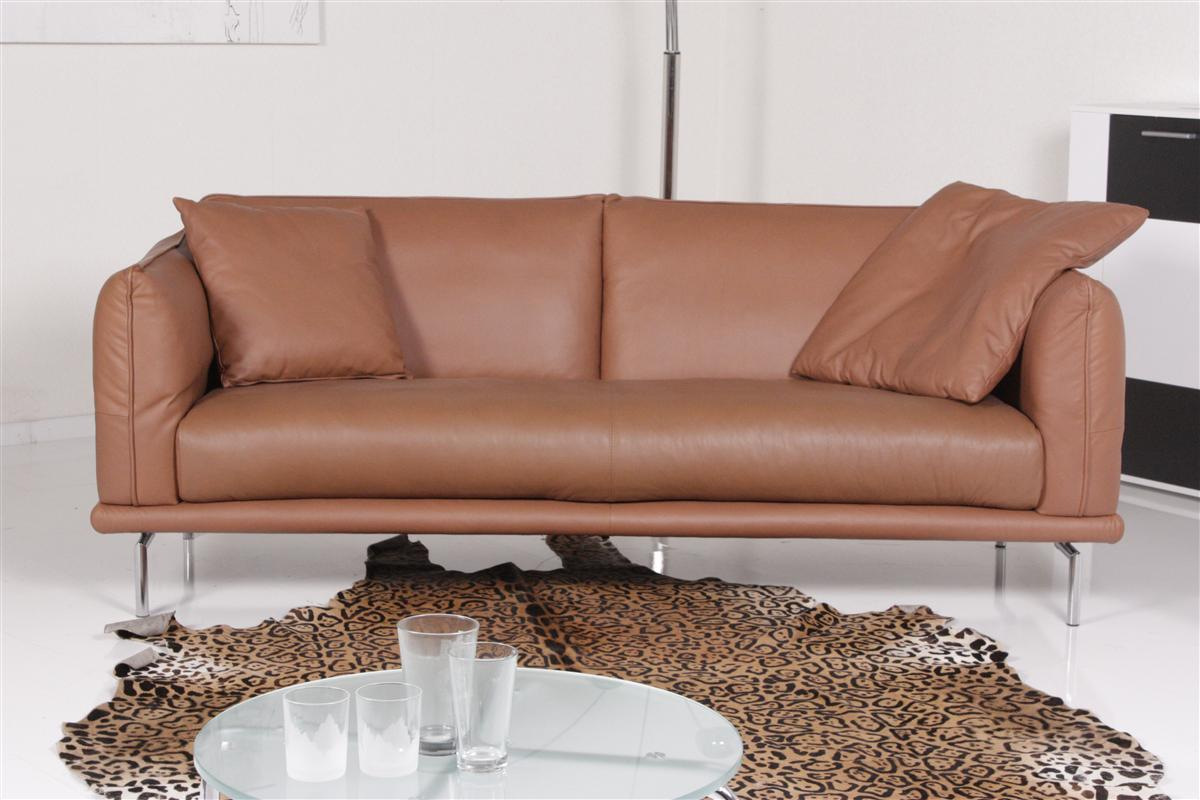 machalke sofa ledersofa denver 3 sitzer sofa leder farbe copper ebay. Black Bedroom Furniture Sets. Home Design Ideas