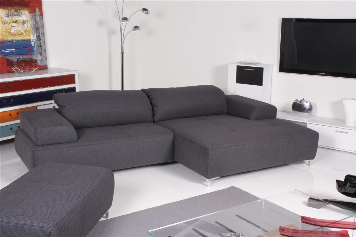 ewald schillig sofa mega ecksofa inkl hocker stoff blau grau ebay. Black Bedroom Furniture Sets. Home Design Ideas